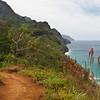 Kalalau Trail in Kauai, Hawaii.