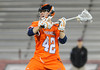 23 April 2011: Bucknell Bison midfielder Mike Danylyshyn (42)prepares to take a shot during the second half against the Colgate Raiders at Andy Kerr Stadium in Hamilton, NY.