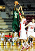 26 November 2010: Norfolk State Spartans forward Tim Zephyr (5) elevates for a shot over Fairfield Stags guard Colin Nickerson (25) during the first half at the Philly Hoop Group Classic played at the Palestra in Philadelphia, PA.