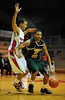26 November 2010: Norfolk State Spartans guard Pendarvis Williams (11) drives to the basket during the first half against the Fairfield Stags at the Philly Hoop Group Classic played at the Palestra in Philadelphia, PA.