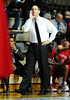 26 November 2010: Rutgers Scarlet Knights head coach Mike Rice yells to his team during the second half against the Saint Joseph's Hawks at the Philly Hoop Group Classic played at the Palestra in Philadelphia, PA.