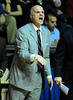 26 November 2010: Saint Joseph's Hawks head coach Phil Martelli yells to his team during the first half against the Rutgers Scarlet Knights at the Philly Hoop Group Classic played at the Palestra in Philadelphia, PA.