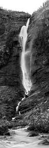 Takakkaw Falls black and white