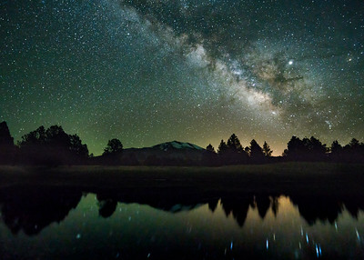 Humphreys Peak Milkyway Reflection