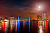 The Full Strawberry Moon. June 2013. Jacksonville, Florida. Photomatix Fused HDR. I regret not knowing how to set for moon surface maybe next month.
