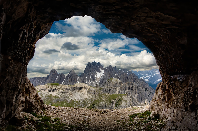Cave in the Italian Dolomites.