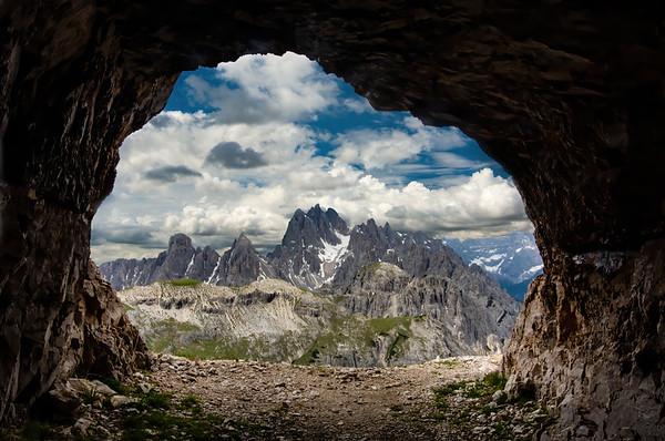 Cave in the Italian Dolomites.