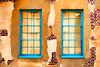 Turquoise Windows and Bricks
