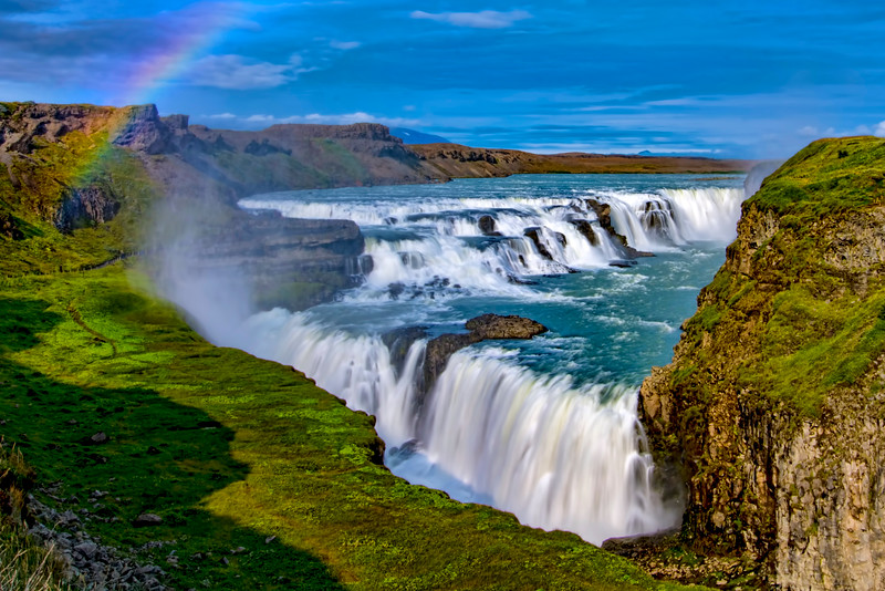 Gullfoss and Rainbow
