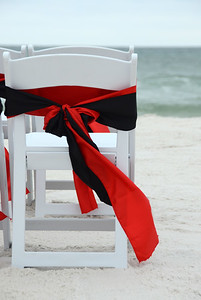 Double Sashes, Black & Red