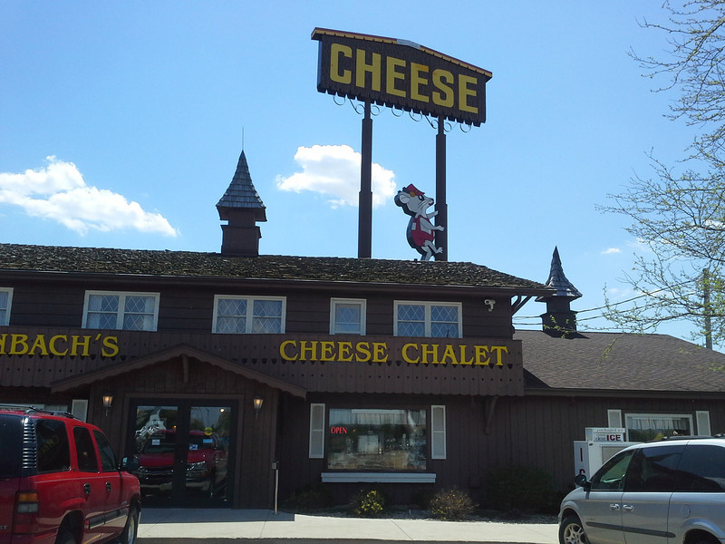 The Cheese Chalet, Wisconsin.  They had awesome cheese, summer sausage, wine, local beer, ice cream, chocolate...everything awesome!