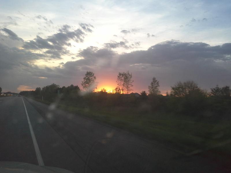 Illinois sunset, near Chicago.