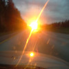 Beautiful sunset, although this picture isnt great. We were just an hour from seattle at this point.