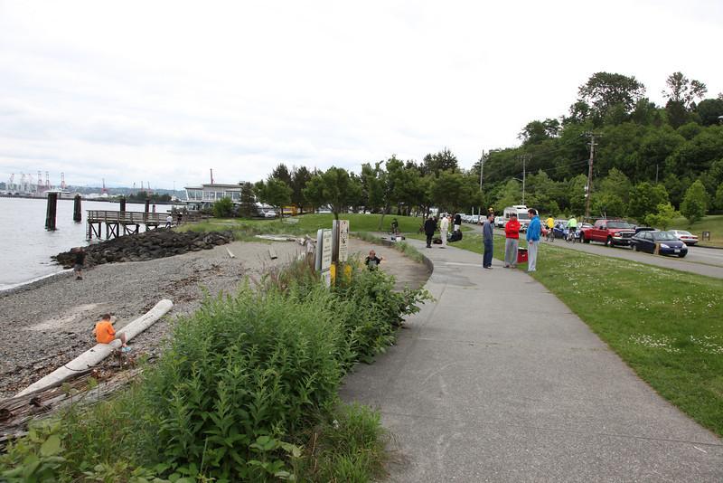 The cute little walkway along the waters edge.
