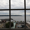 having lunch at Pikes market looking at West Seattle. Cindy's new house is right over there.