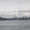 This is the view from West Seattle,  there's the space needle.
