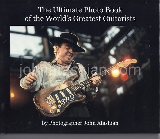 Available for sale is a brand new  high quality coffee table style photo book that includes black and white and color photographs of 500 different world renown guitarists photographed by John Atashian. This book has over 100 pages and is a must have for g