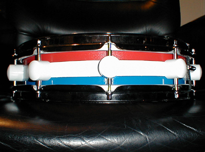The Patriot.. one of my faves 14 x 4, maple 6 ply shell... LOUD!!  Pearl Throw, Custom lugs..