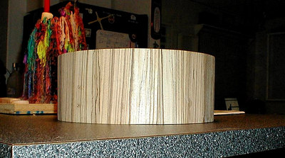 "Zebra Wood, Stave 14x6 snare shell... 3/4"" thick.. fresh from the glueing process..."