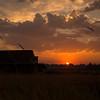 5  G Sunset Sun and Barn