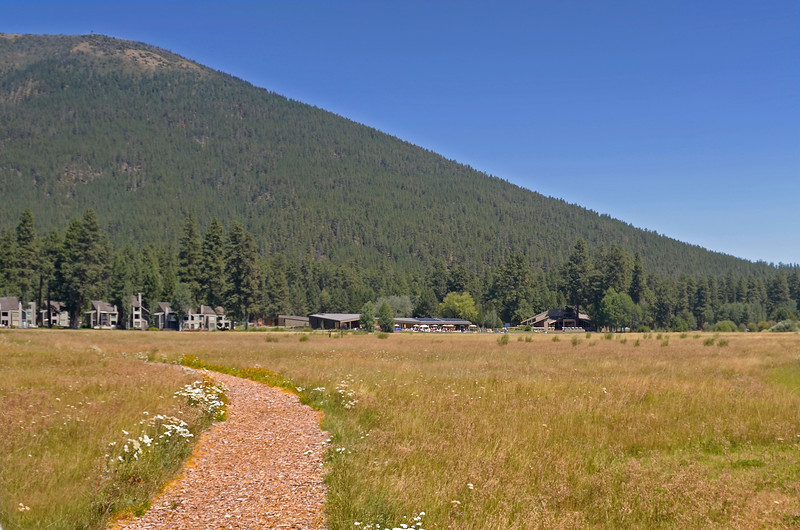 Lodge area from meadow + black butte _ KateThomasKeown_KTK2020
