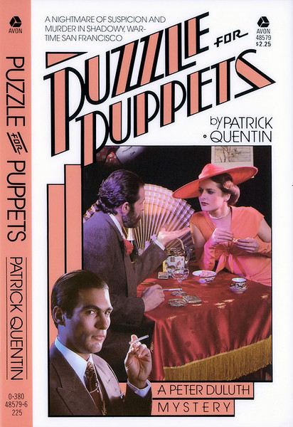 """Puzzle for Puppets"", published by Avon Books a division of the Hearst Corporation."
