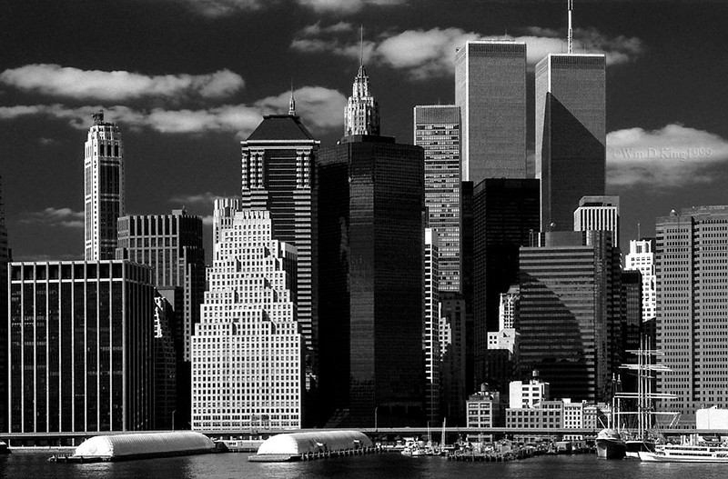 The World Trade Center, and the NYC skyline.