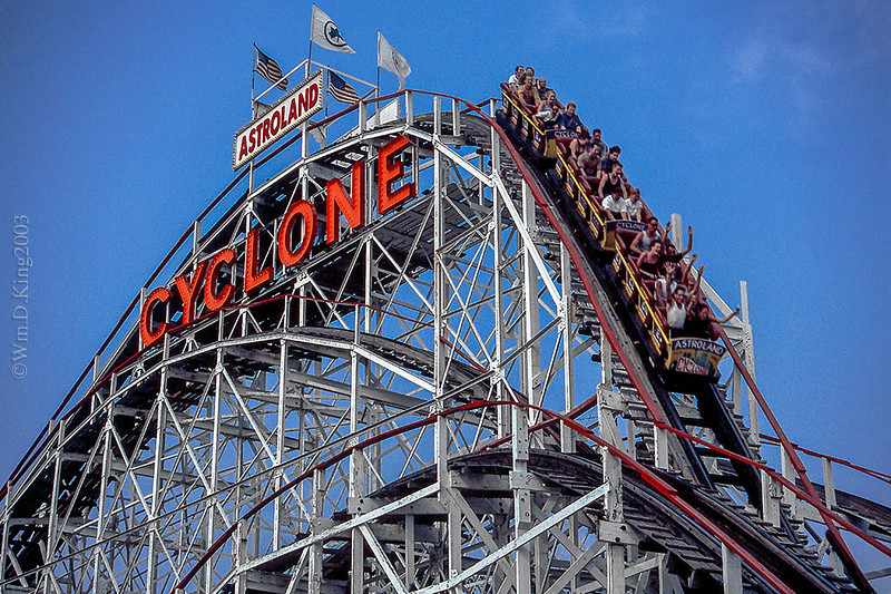 """The Cyclone"", Coney Island, Brooklyn, NY."