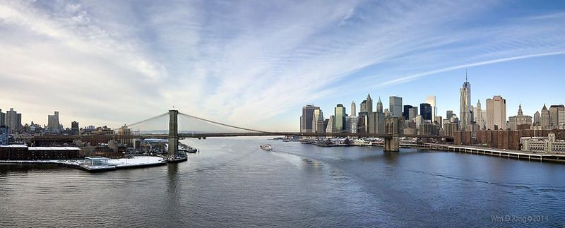 The Brooklyn Bridge as seen from the Manhattan Bridge Feb.2014.