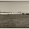"""Red Hook's harbor and industrial inlet, photographed in Brooklyn."