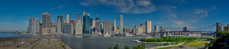 """NYC Skyline"", Photographed from the Promenade in Brooklyn."