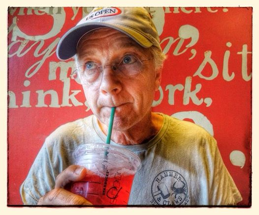William King chilling at Starbucks in Sunnyside, Queens.