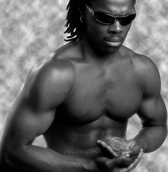 Vincent, Gymnastics instructor modeling sun glasses.