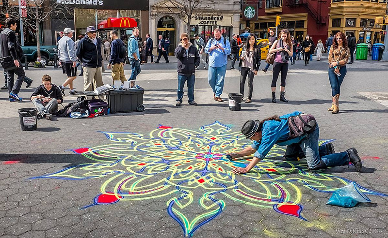 Sand Painter, Union Square, NYC.