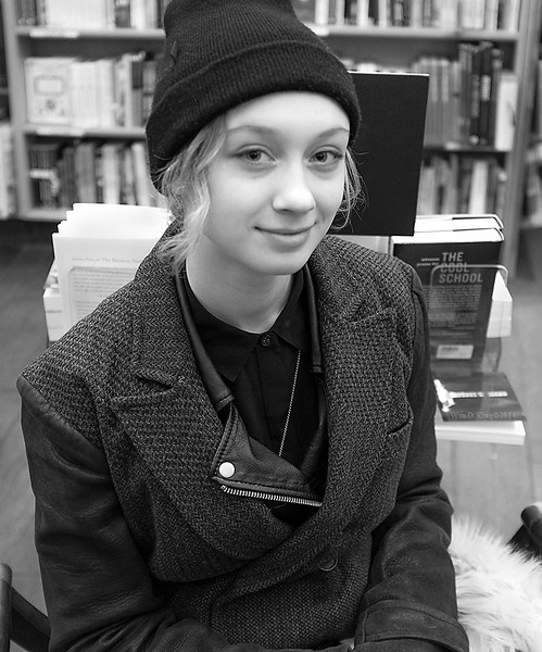 """Caitlin King"" in a SoHo book store."