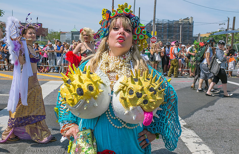 """Mermaid"" at the Mermaid Parade 2013, Coney Island, Brooklyn, New York."