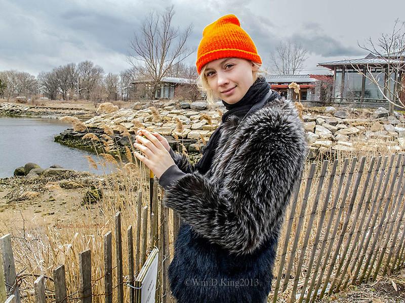 """Caitlin King"", Nature Center, Marine Park, Brooklyn."