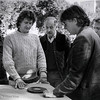 Andrzej Bartowiak (left center) and Director Ed Bianchi (right center) set up still-life.