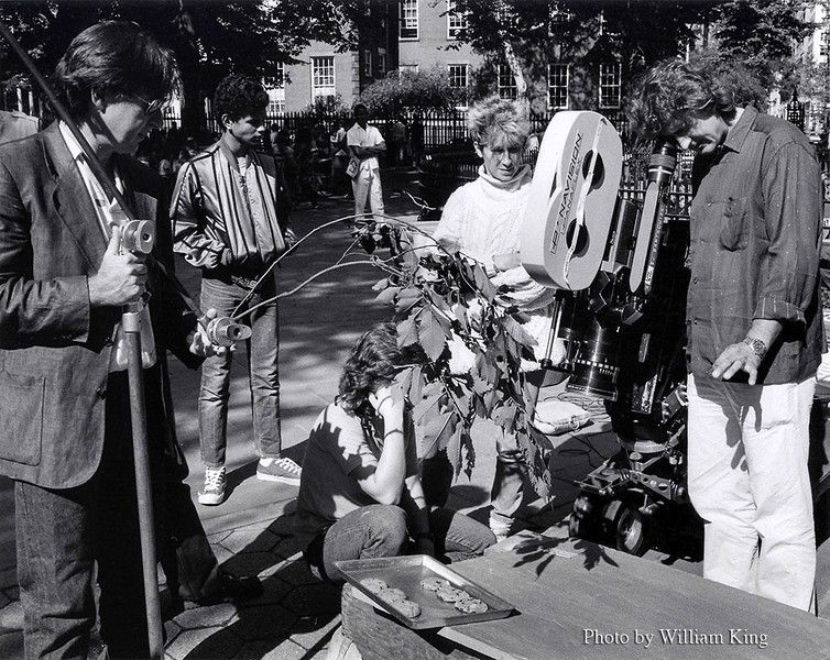 Director Ed Bianchi (right) and  DP. Andrzej Bartowiak (left) work with creative to set up still-life shot.