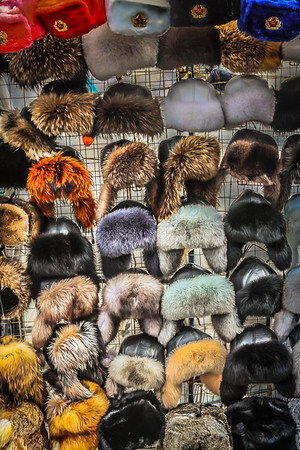 Hats for sale near Red Square
