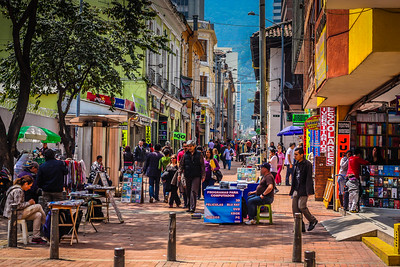 A street scene in Bogota.