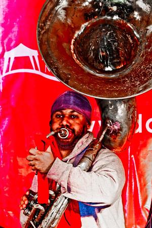 Washington DC, USA - A street tuba player
