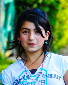 Tunca, Chile- A local girl in Tunca on the way to a store.