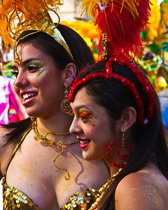 Valparaiso, Chile- Valparaiso, Chile - These two young ladies were dressed and ready for the carnival festivities in Valparaiso.