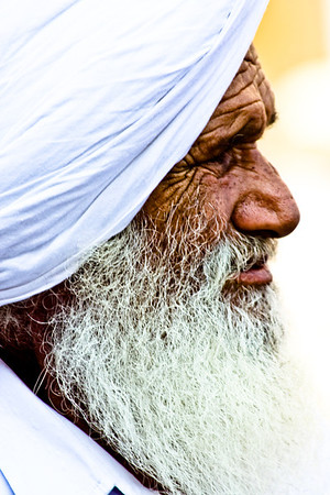 Agra, India - A gentle, thoughtful man in downtown Agra.