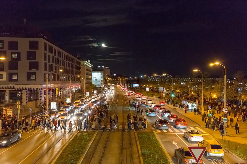 White night, Bratislava, 2017