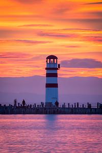 Lighthouse at Neusiedler See, Austria