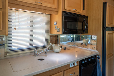 Kitchen with counter tops