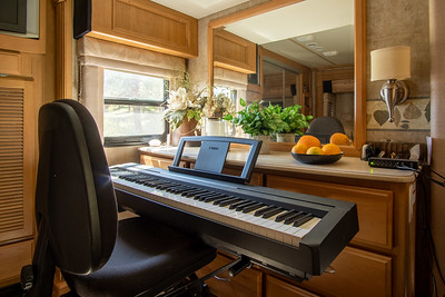 If you like to play piano we can leave this keyboard in the RV
