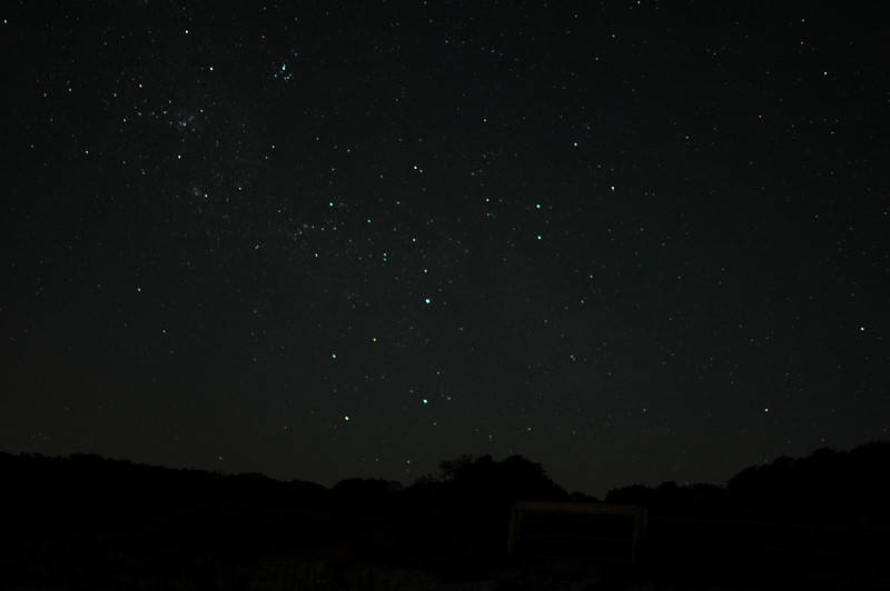 Astrophotography test, 30 second exposure, taken at the beach on Bunker Bay, Western Australia just before moonrise.